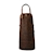 CL-VL01 · BROWN LEATHER APRON · Brown · 119.90€