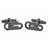 F014-N · Paperclip cufflinks · Black · 14.90€
