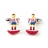F195-AT · Atletico madrid soccer player cufflinks · Red And White · 17.90€