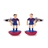 F195-B · Barcelona soccer player cufflinks · Blue red · 17.90€