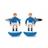 F195-ITALIA · Italy football soccer player cufflinks · Blue withe · 15.90€