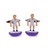 F195-RM · Real madrid soccer player cufflinks · White · 17.90€