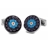 XCM-002 · Murano glass cufflinks · Black And Blue · 39.00€