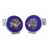 XCM-004 · Murano glass cufflinks · Royal blue · 39.00€