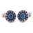 XCM-006 · Murano glass cufflinks · Sky blue white · 39.00€