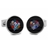 XCM-007 · Murano glass cufflinks · Black · 39.00€