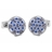 XCM-008 · Murano glass cufflinks · Sky blue · 39.00€